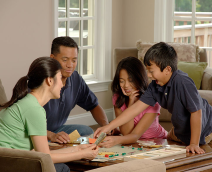 Family playing a board game (3)